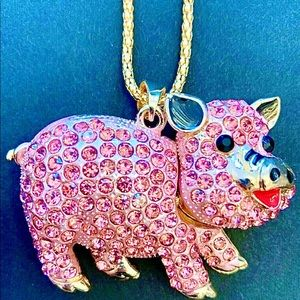 Betsey Johnson Crystal Pink Piggy
